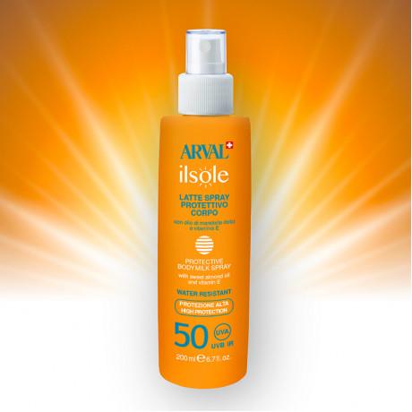 Protective body milk spray SPF 50 bottle 200 ml