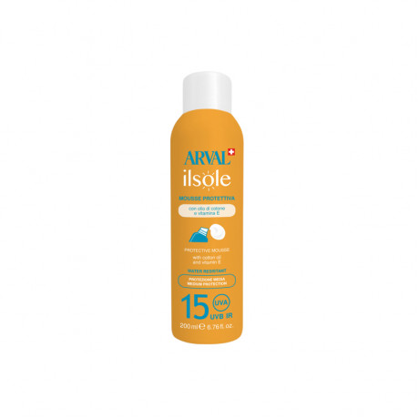 Protective mousse - face & body SPF15 bottle 200 ml